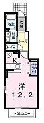 神奈川県伊勢原市桜台5丁目の賃貸アパートの間取り