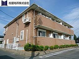 愛知県豊橋市下地町字境田の賃貸アパートの外観