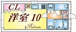 兵庫県神戸市垂水区城が山4丁目の賃貸マンションの間取り