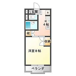 愛知県豊橋市瓦町の賃貸マンションの間取り