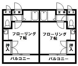 JR新宮センチュリー21[306号室]の間取り