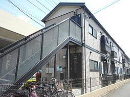 埼玉県草加市松原5の賃貸アパートの外観