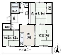 埼玉県和光市南2丁目の賃貸マンションの間取り