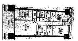 溝の口ガーデンアクアスアクアウイング[3階]の間取り