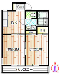 アースガーディニア[2階]の間取り