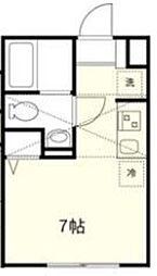 東京メトロ丸ノ内線 新中野駅 徒歩7分の賃貸アパート 2階ワンルームの間取り