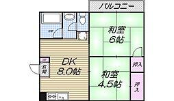 メゾンピーチバレイ[5階]の間取り