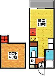 長崎県長崎市西山4丁目の賃貸アパートの間取り
