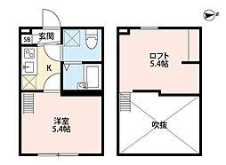 レイズ橋本(レイズハシモト)[2階]の間取り