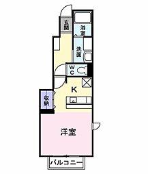 ジェルメ千本杉[1階]の間取り