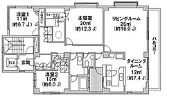 ヴェール松濤[3階]の間取り