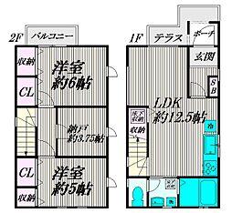 [一戸建] 東京都杉並区善福寺3丁目 の賃貸【/】の間取り