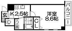 グランツ寝屋川[2階]の間取り