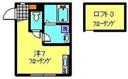 相鉄いずみ野線 弥生台駅 徒歩10分の賃貸アパート 1階ワンルームの間取り