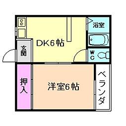 スタジオパリス[2階]の間取り