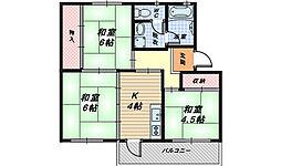 大阪府和泉市鶴山台2丁目の賃貸マンションの間取り