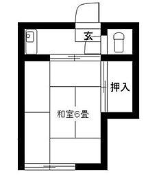 静和荘[8号室]の間取り