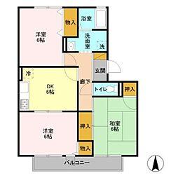 フレマリール鎌ヶ谷C[1階]の間取り