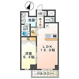 泉北高速鉄道 和泉中央駅 徒歩7分の賃貸マンション 3階1LDKの間取り