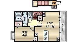 ソレアードユニティI・II[2階]の間取り