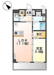 JR阪和線 三国ヶ丘駅 徒歩7分の賃貸マンション 2階1LDKの間取り