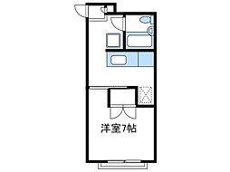 神奈川県相模原市南区南台2丁目の賃貸アパートの間取り