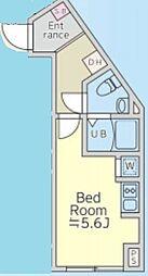 Luna Crescente Ebisu 地下2階ワンルームの間取り
