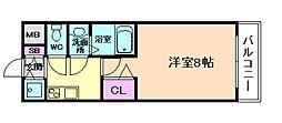 大阪WESTレジデンス[6階]の間取り