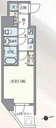 東京メトロ丸ノ内線 本郷三丁目駅 徒歩7分の賃貸マンション 11階1Kの間取り