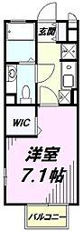 JR中央線 八王子駅 バス18分 谷野町下車 徒歩3分の賃貸アパート 1階1Kの間取り