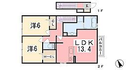 アインスコートII[2階]の間取り