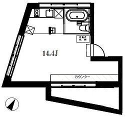 apartment KURO 目黒[-1階]の間取り