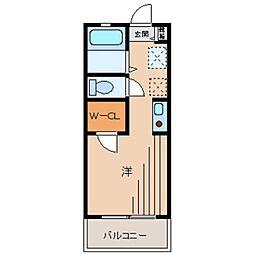 ソレアードAG[2階]の間取り