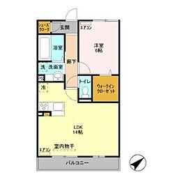 グランドゥールV B棟[3階]の間取り