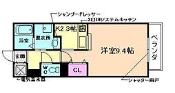 大阪府豊中市日出町1丁目の賃貸アパートの間取り