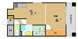 シーズン神戸新長田[6階]の間取り