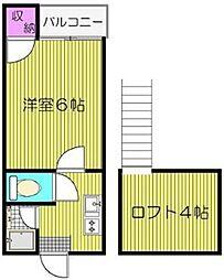 コンパートハウス和白[205号室]の間取り