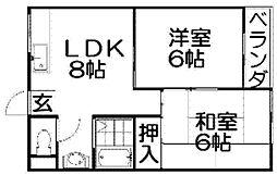 ロイヤルコート[2階]の間取り