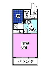 レオパレスマコト[2階]の間取り