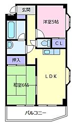 Tresure島泉[3階]の間取り