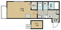 JR武蔵野線 新座駅 徒歩7分の賃貸アパート 3階1Kの間取り
