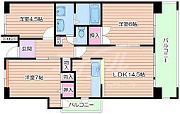 UR都島リバーシティ1号棟[2階]の間取り
