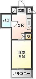 アーバンハイム東[6階]の間取り