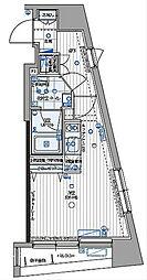 パティーナ三田台 6階ワンルームの間取り