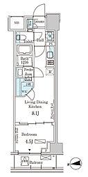 東京メトロ半蔵門線 半蔵門駅 徒歩6分の賃貸マンション 4階1LDKの間取り