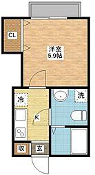 長崎県長崎市淵町の賃貸アパートの間取り