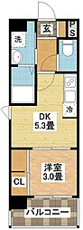 modern palazzo平和公園[3階]の間取り