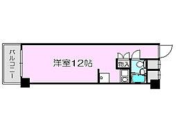Osaka Metro御堂筋線 中津駅 徒歩1分の賃貸マンション 7階ワンルームの間取り
