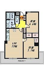 ロイヤルハイツ今福鶴見駅[9階]の間取り