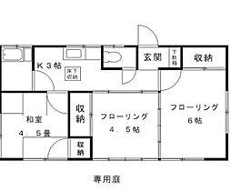 [一戸建] 東京都小平市御幸町 の賃貸【/】の間取り